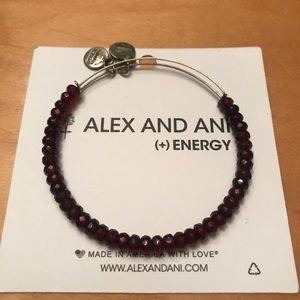 Alex and Ani Red Beaded Bracelet